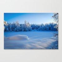 swedish Canvas Prints featuring Swedish Winter by Mark W