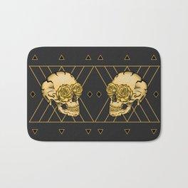 Golden Skull composition  Bath Mat