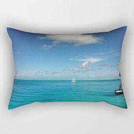 Bora Bora Hilton NUI Bungalow View Rectangular Pillow
