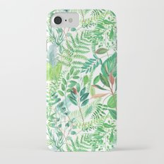 greenery watercolor pattern iPhone 7 Slim Case