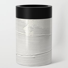 Relief [1]: an abstract, textured piece in white by Alyssa Hamilton Art Can Cooler