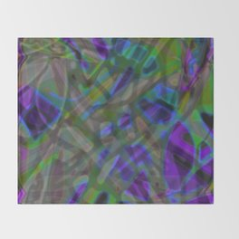 Colorful Abstract Stained Glass G301 Throw Blanket