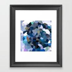 Sky Blue Moon Mountain Dreams Framed Art Print