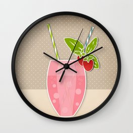 "Picture. Strawberry juice. From a set of paintings. The ""kitchen"". Wall Clock"