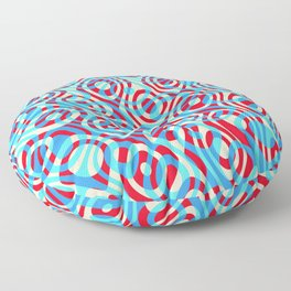 Mixed Polyps Red Blue - Coral Reef Series 035 Floor Pillow