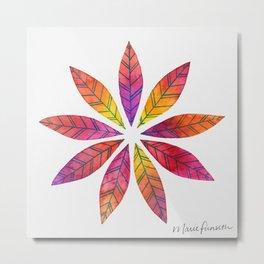 Ring of Leaves - Fall Colors Metal Print