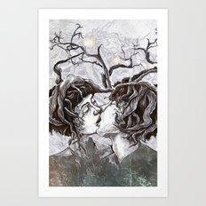 Bird Sings in The Apple Tree Art Print