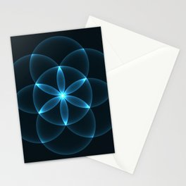 Glowing Flower of Life Stationery Cards