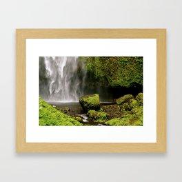 Secret Waterfall Framed Art Print