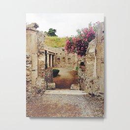 Ruins in Pompeii Metal Print