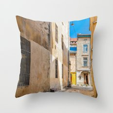 The courtyard of Lviv Throw Pillow
