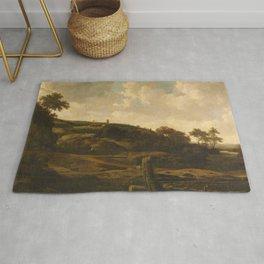 Mountainous Landscape, possibly the St Pietersberg, with Lichtenberg Castle, near Maastricht, Joris Rug