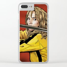 Tarantino Kill Bill -  Kiddo The Bride Clear iPhone Case