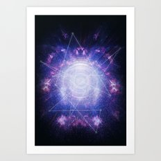 Abstract colossal space Sign! Art Print