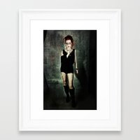 depeche mode Framed Art Prints featuring Depeche Punk by Spoken in Red