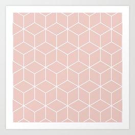 Quartzo Cubes Art Print