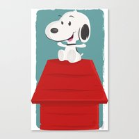 snoopy Canvas Prints featuring Snoopy by Sour Pickle