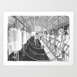 Milk Machine Art Print