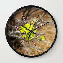 Beauty in Thorns Wall Clock