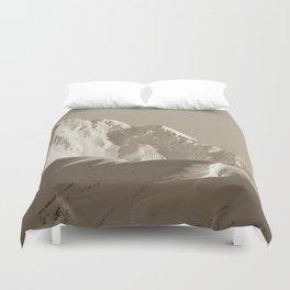 Alaskan Mts. - Mono I Duvet Cover