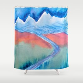 The Himalaya and The River Ganges Shower Curtain