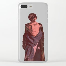 S K Holmes Double Exposure Clear iPhone Case