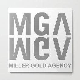 Miller Gold Agency Metal Print