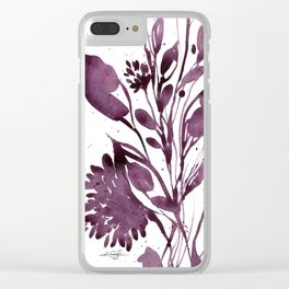 Organic Impressions No. 110 by Kathy Morton Stanion Clear iPhone Case