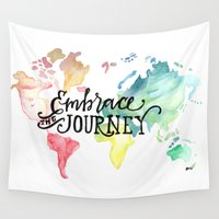 journey Wall Tapestries featuring Journey by Bethany Mallick