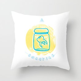 Aquarius - Teeth Zodiac Throw Pillow