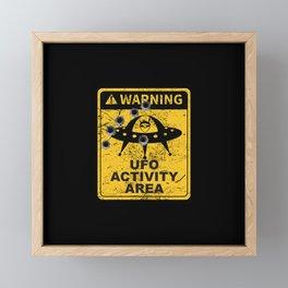 Warning, UFO activity area Framed Mini Art Print