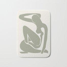 Sage Green Matisse Art, Matisse Abstract Art Decor Bath Mat