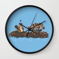 woody Wall Clocks featuring Woody by Rodrigo Ferreira