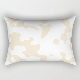 Large Spots - White and Champagne Orange Rectangular Pillow