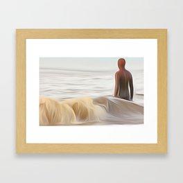 Gormley Statue (Digital Art) Framed Art Print