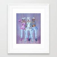 manga Framed Art Prints featuring Manga Girls by Illu-Pic-A.T.Art