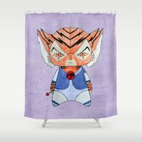 thundercats Shower Curtains featuring A Boy - Tygra (Thundercats) by Christophe Chiozzi
