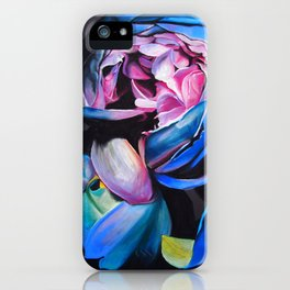 Rose chalk drawing iPhone Case