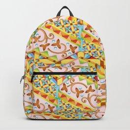 Pink Bonbon Hexagons Backpack