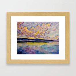 Sunrise on the Comox Glacier Framed Art Print