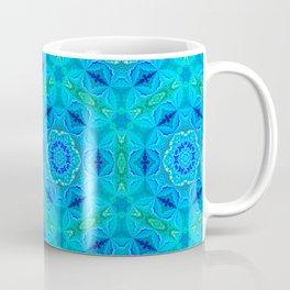 Blue Fractal Motiff Coffee Mug