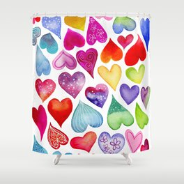Field of Hearts Shower Curtain