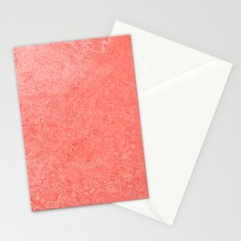 Living Coral - Color of the year 2019, Millennial Pink Grunge Ombre Pastel Texture Stationery Cards