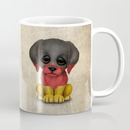 Cute Puppy Dog with flag of Germany Coffee Mug