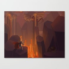 Into the Flames Canvas Print