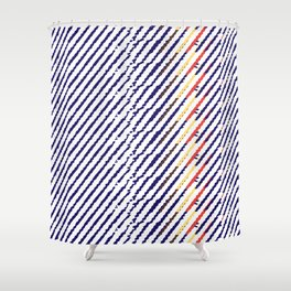 Drops of time Shower Curtain