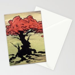 Enamel leaves Stationery Cards