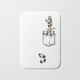 Cute Pocket Pandas Bath Mat