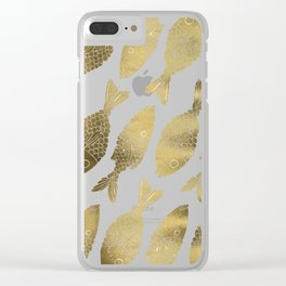 Indonesian Fish Duo – Gold Palette Clear iPhone Case
