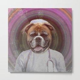 Dr. Doggo Metal Print